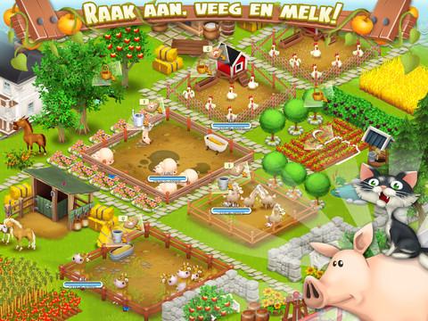 Hay Day dieren houden boerderijspel iPhone iPad