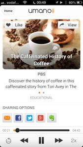 Umano: nieuws laten voorlezen door iPhone-app