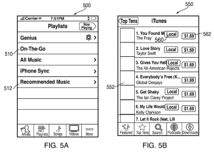 iTunes muziek offline kopen patent