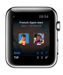 Eurosport op de Apple Watch.