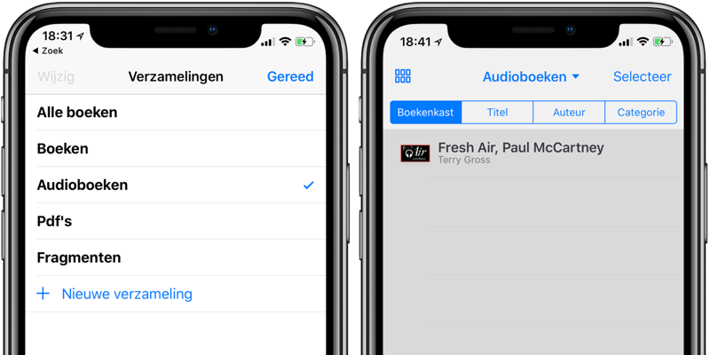 Audioboeken in iBooks