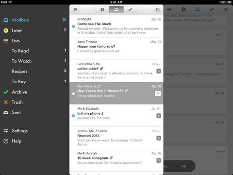 Mailbox iPad gecentreerd scherm