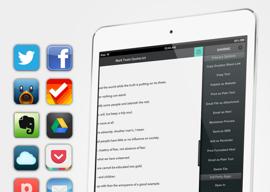 Write for Dropbox iPad schrijfapp