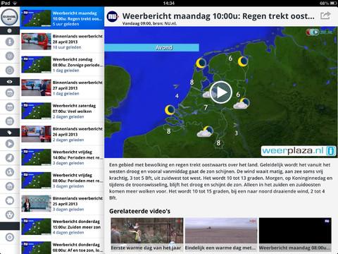 Journaal App weerbericht