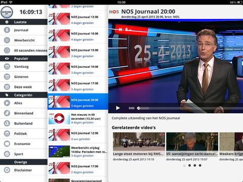 Journaal App iPad uitzendingen