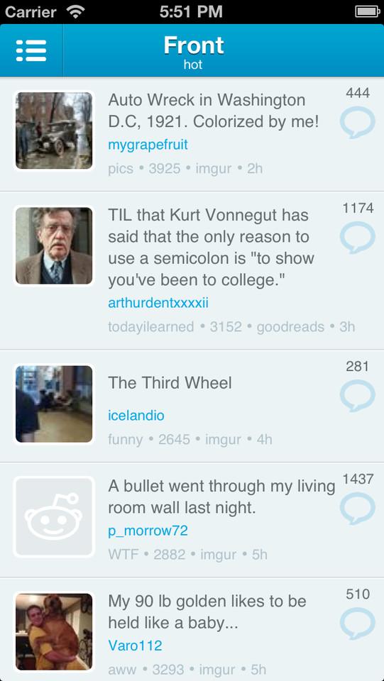 iAlien Reddit-app iPhone hot