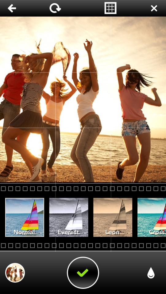 Pixter for iOS kleurenfilters in app