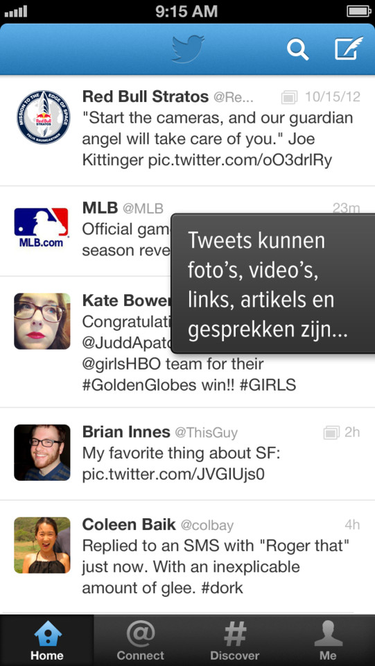 Twitter iPhone timeline