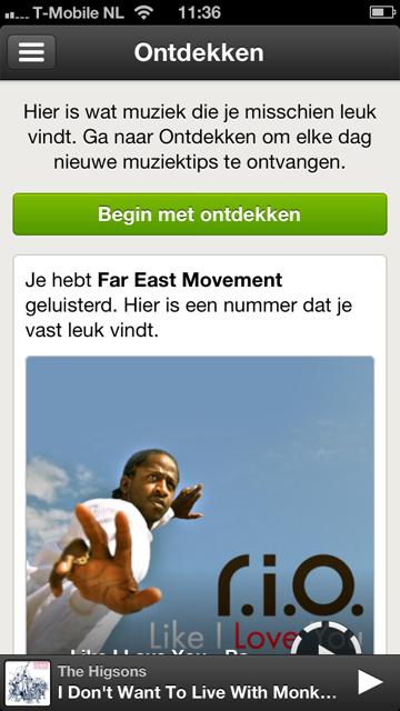 Spotify nieuwe functie ontdekken