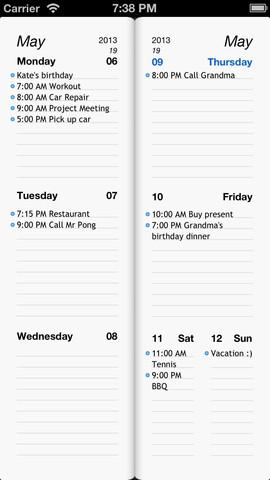 Week Agenda Ultimate zonder bladeren