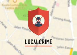 Localcrime iPhone misdaad doorgeven app