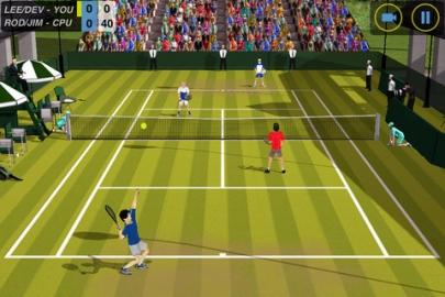 Tennis-apps iPhone Flick Tennis screenshot