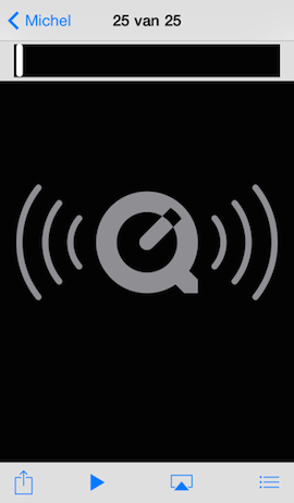 Voicememo afspelen