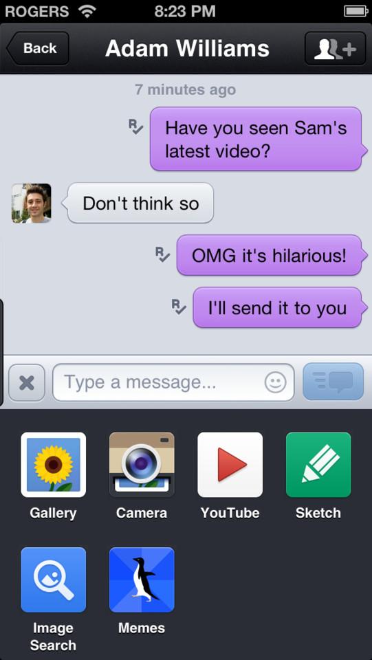 KIK Messenger chatten en video's versturen