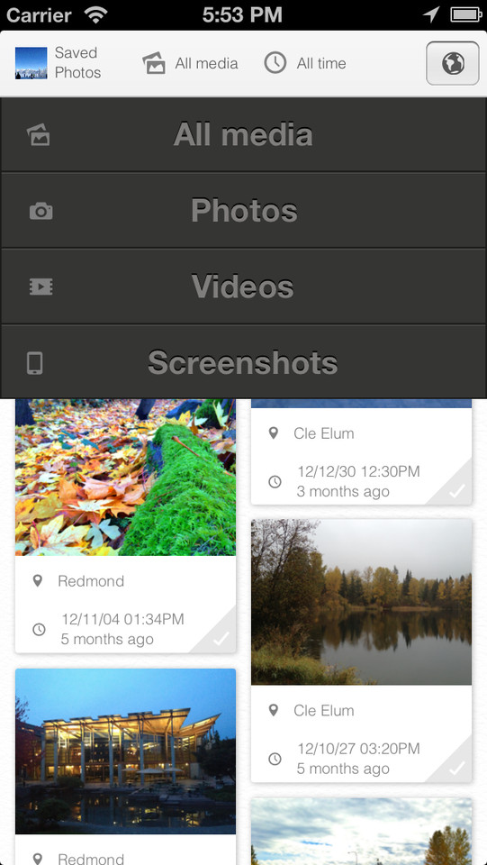 PhotosPro selecteren op