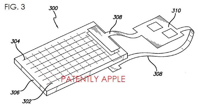 Dubbelzijdig touchpaneel patent Apple