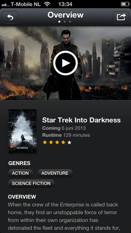 Limelight film-app Star Trek Into Darkness