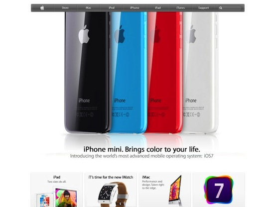 iPhone mini iOS 7 colors