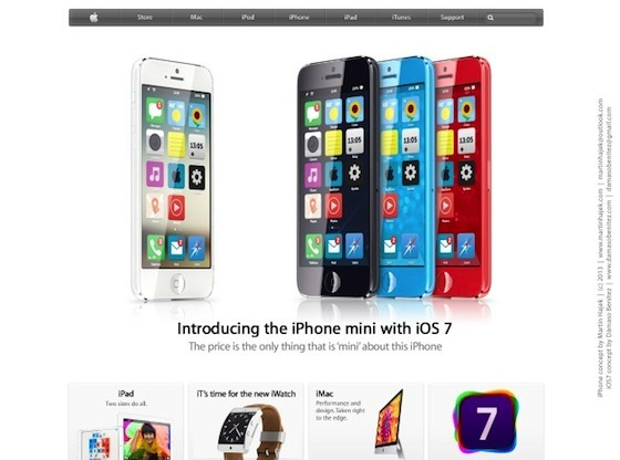 iPhone mini iOS 7 introduction