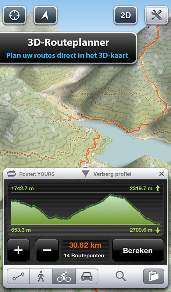 Fiets-apps iPhone Maps 3D