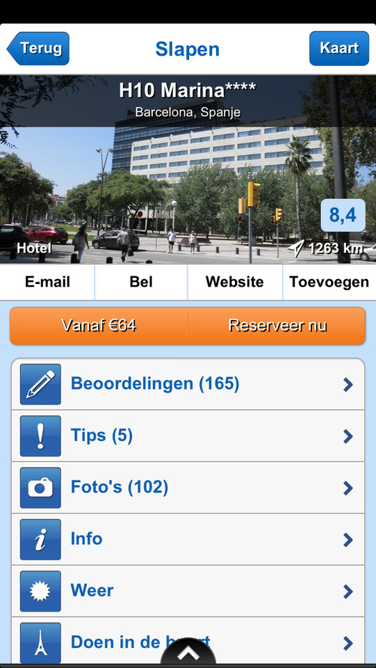 Zoover beoordelingen en overzicht hotel