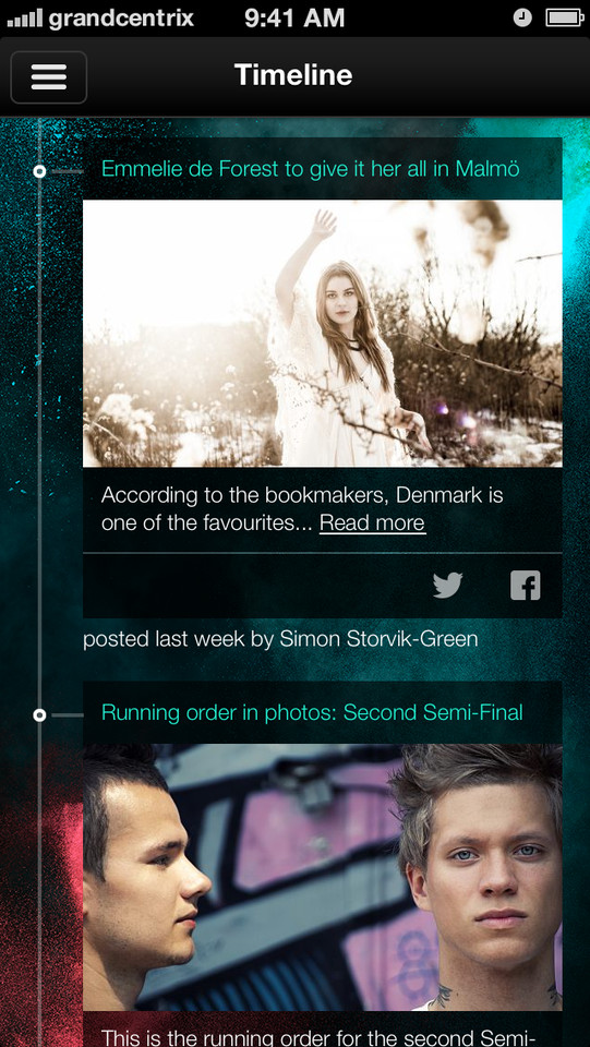 Eurovision Song Contest iPhone app nieuws