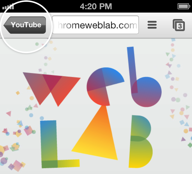 Google Chrome YouTube iOS