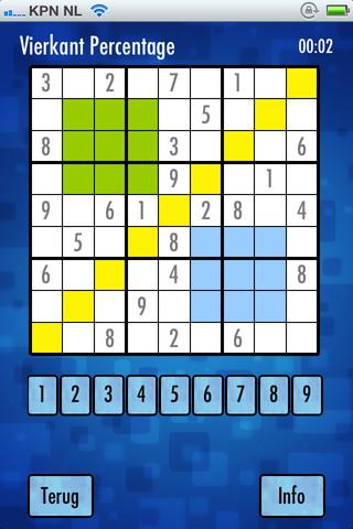 Sudoku vierkant percentage
