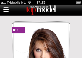 Holland's Next Top Model iPhone-app 2013