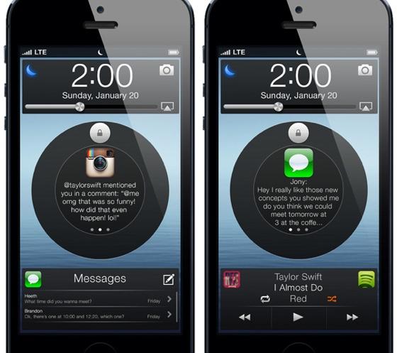 Cirkelvormig ontrendelscherm iPhone
