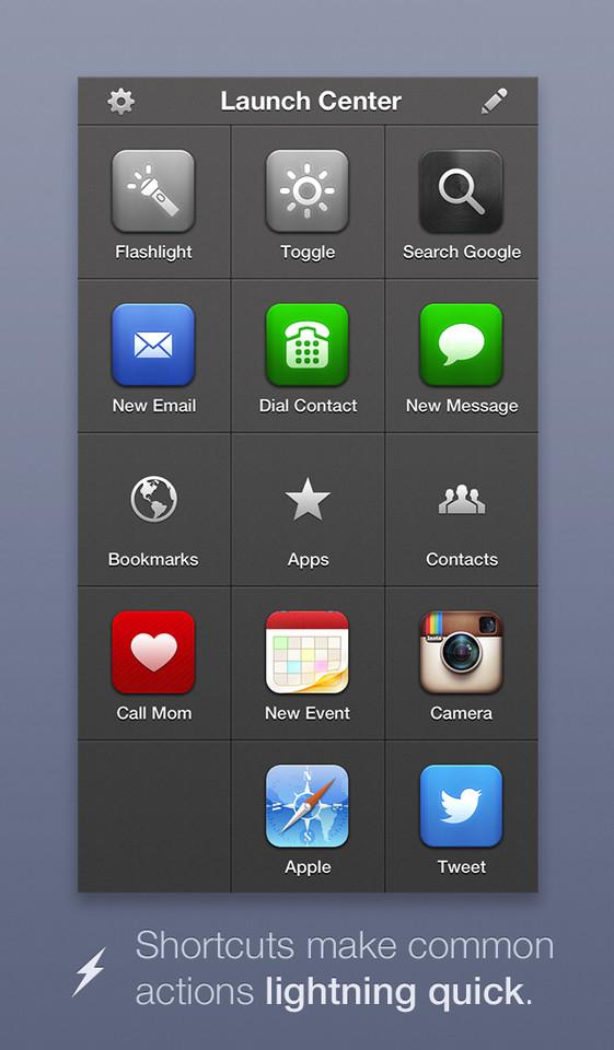 Handige iPhone tools Launch Center Pro