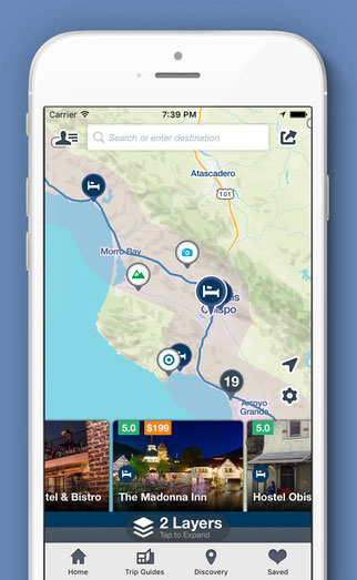 Roadtrippers iPhone-app