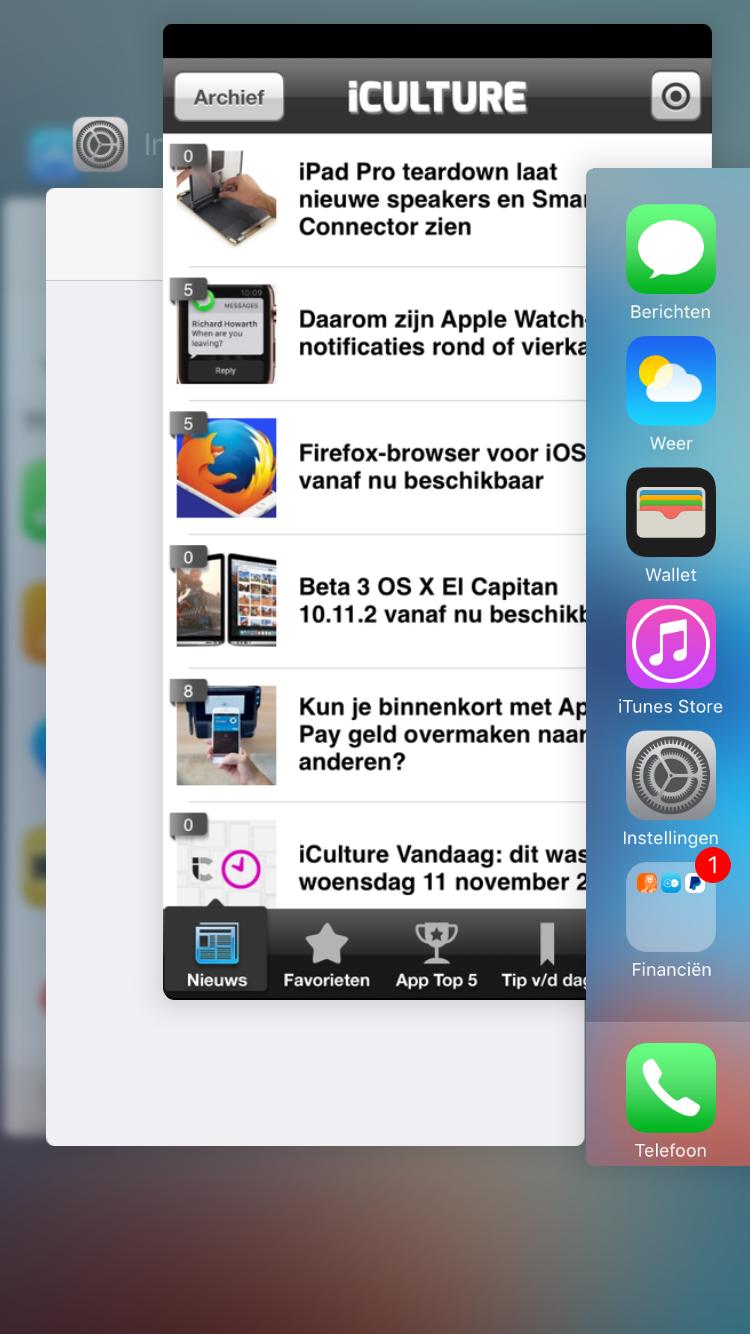 Apps gedwongen afsluiten op de iPhone.