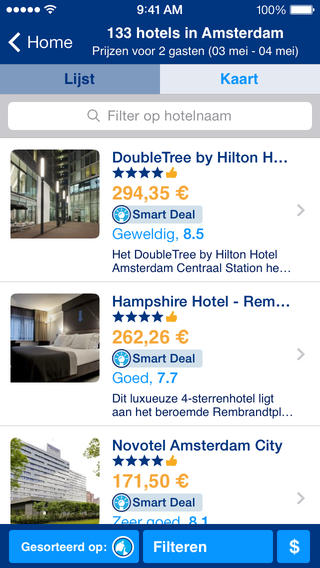 Booking.com iPhone hotels boeken