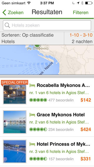 Hotels boeken iPhone TripAdvisor