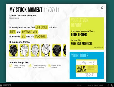 Unstuck analyse