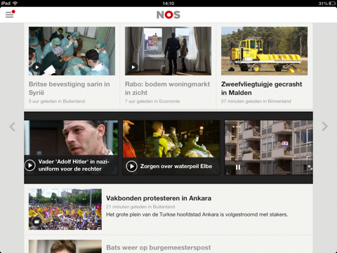 NOS iPad-app preview video's