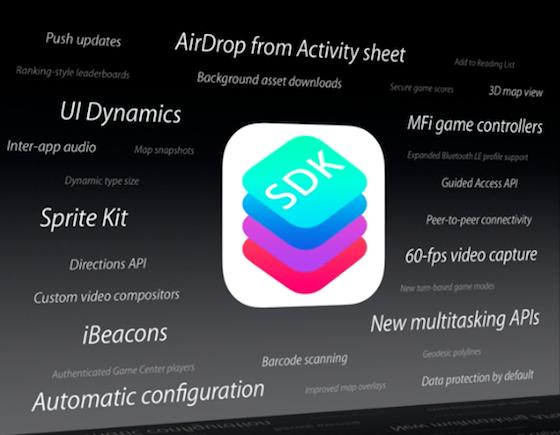 iOS 7 SDK slide