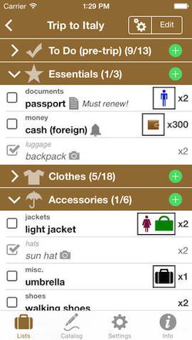 Packing Pro voor iPhone