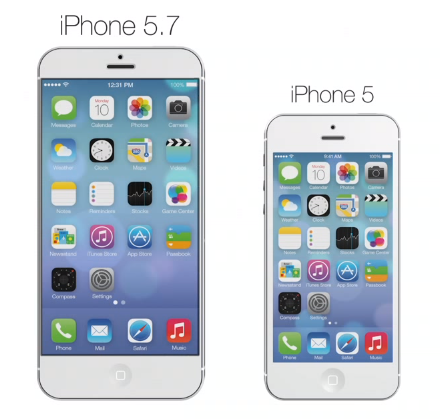 iPhone 5,7inch concept