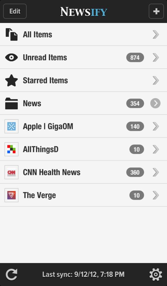 Newsify overzicht bronnen