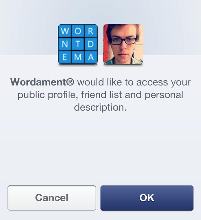 Wordament Facebook