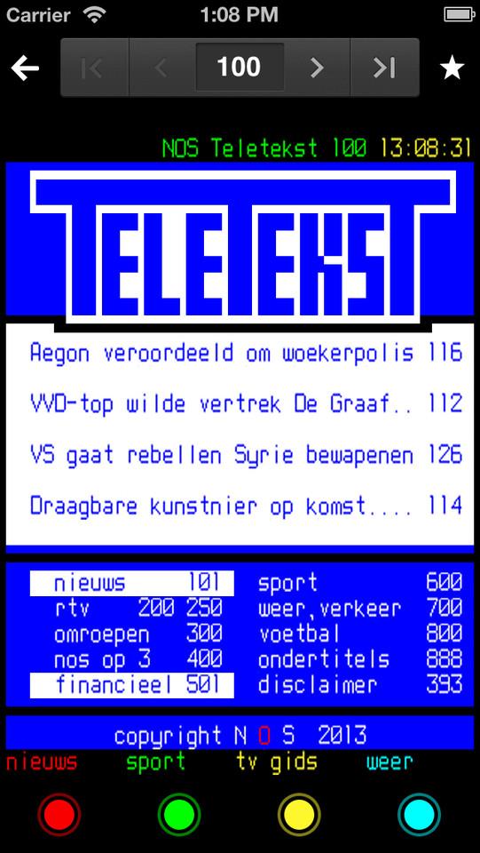 NOS Teletekst krijgt nieuw retro-uiterlijk