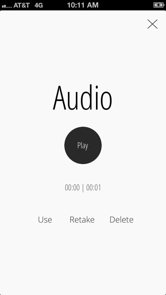 Muzio audiobestand opnemen