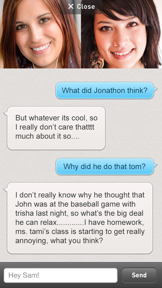 Rounds videochat tekstberichten