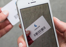 Cardless iPhone kaartje scannen