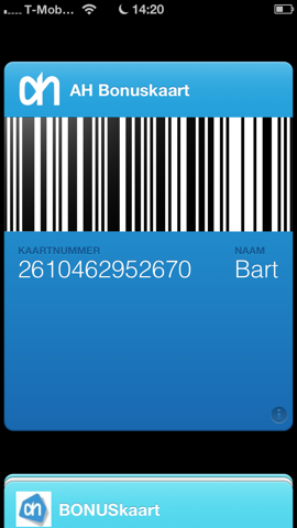 Passbook gemaakt met PassMaker
