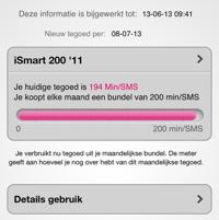My T-Mobile iPhone screenshot gebruik