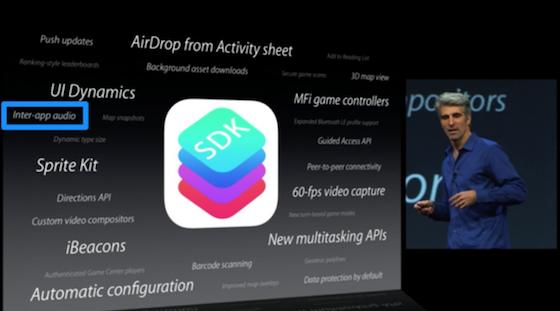 Inter-app-audio