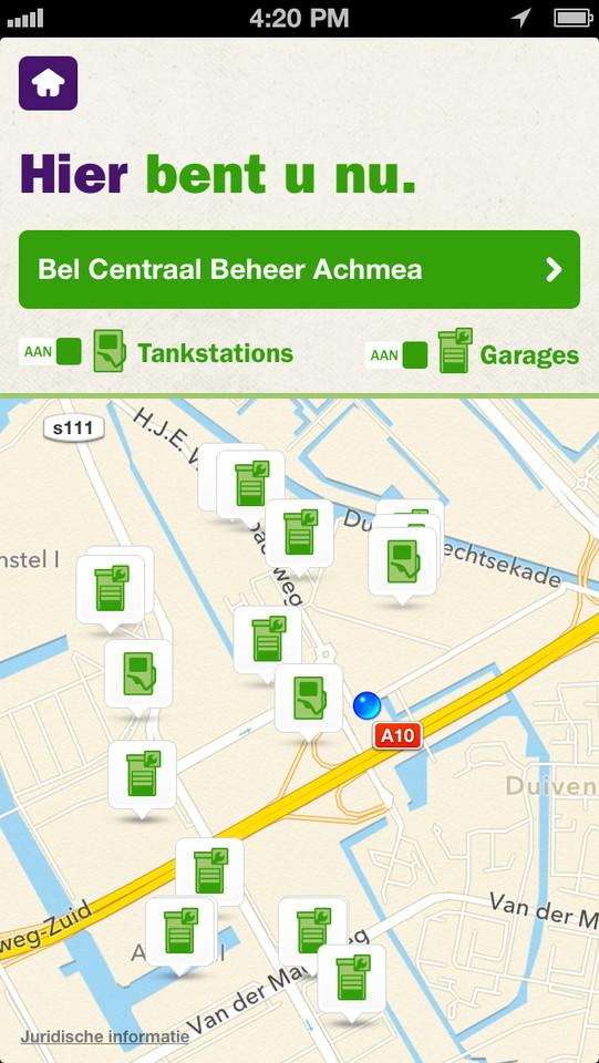 Even Tanken tankstations en garages op kaart